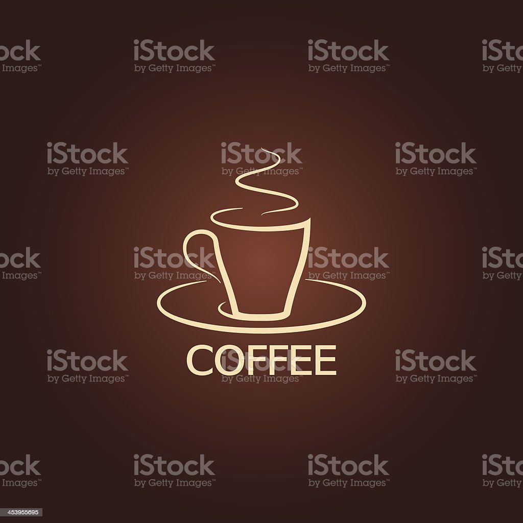 coffee cup design icon background vector art illustration