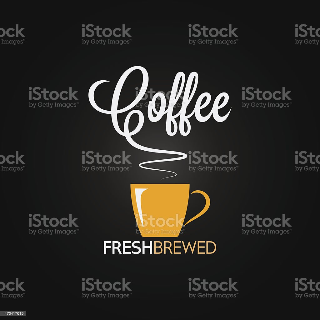 coffee cup flavor design background vector art illustration