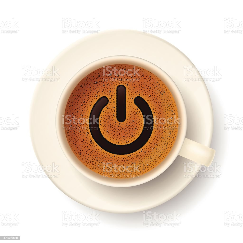 Coffee cup for active life vector art illustration