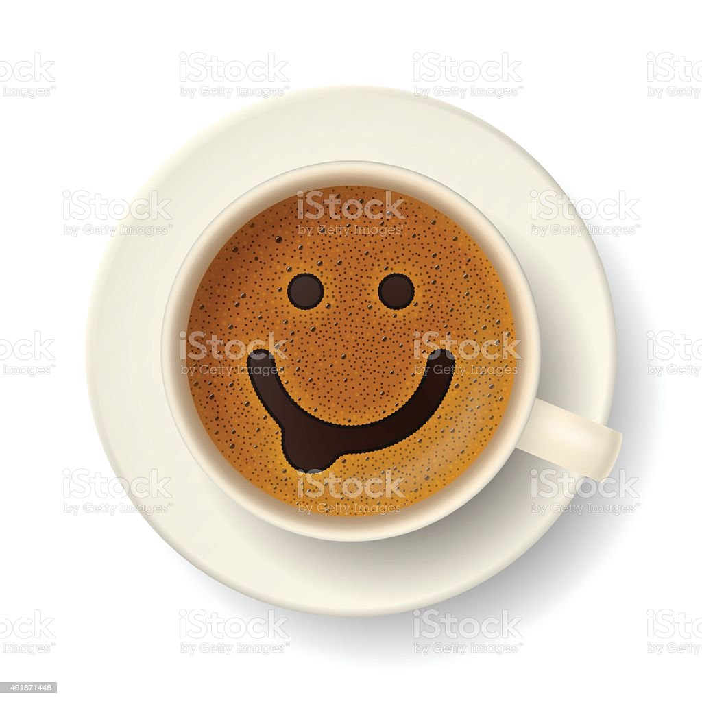 Coffee cup for good mood vector art illustration
