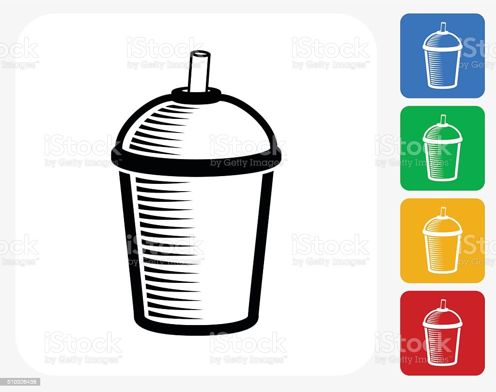 Coffee Cup Icon Flat Graphic Design vector art illustration