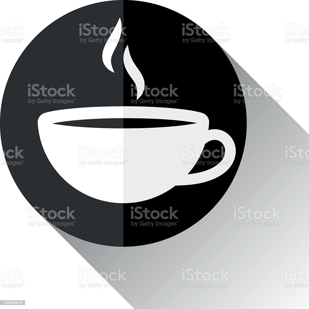 Coffee Cup Icon vector art illustration