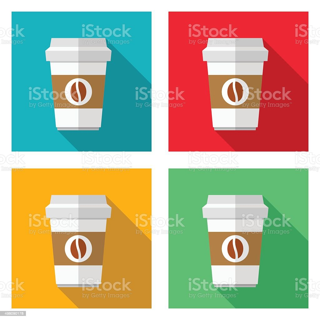 Coffee cup icons - VECTOR vector art illustration