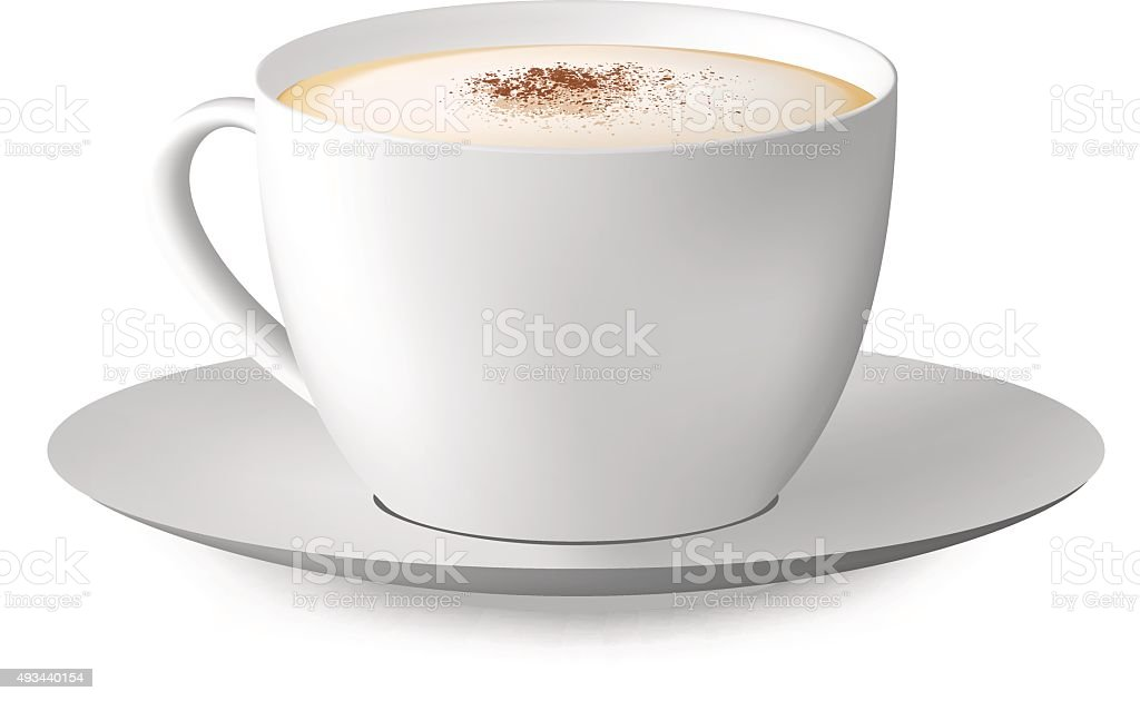 Coffee cup isolated on white background. Vector illustration vector art illustration