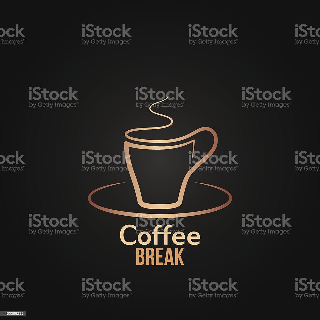 coffee cup label design background vector art illustration