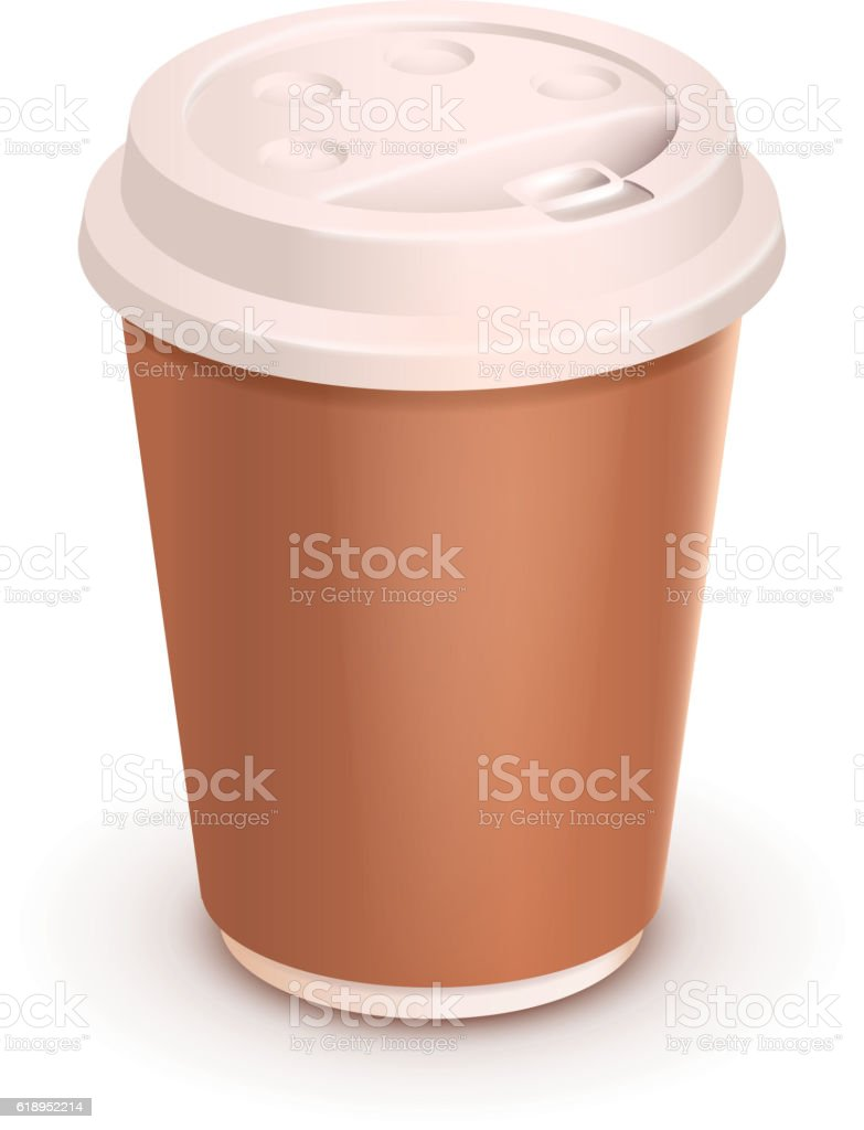 coffee cup on white vector art illustration