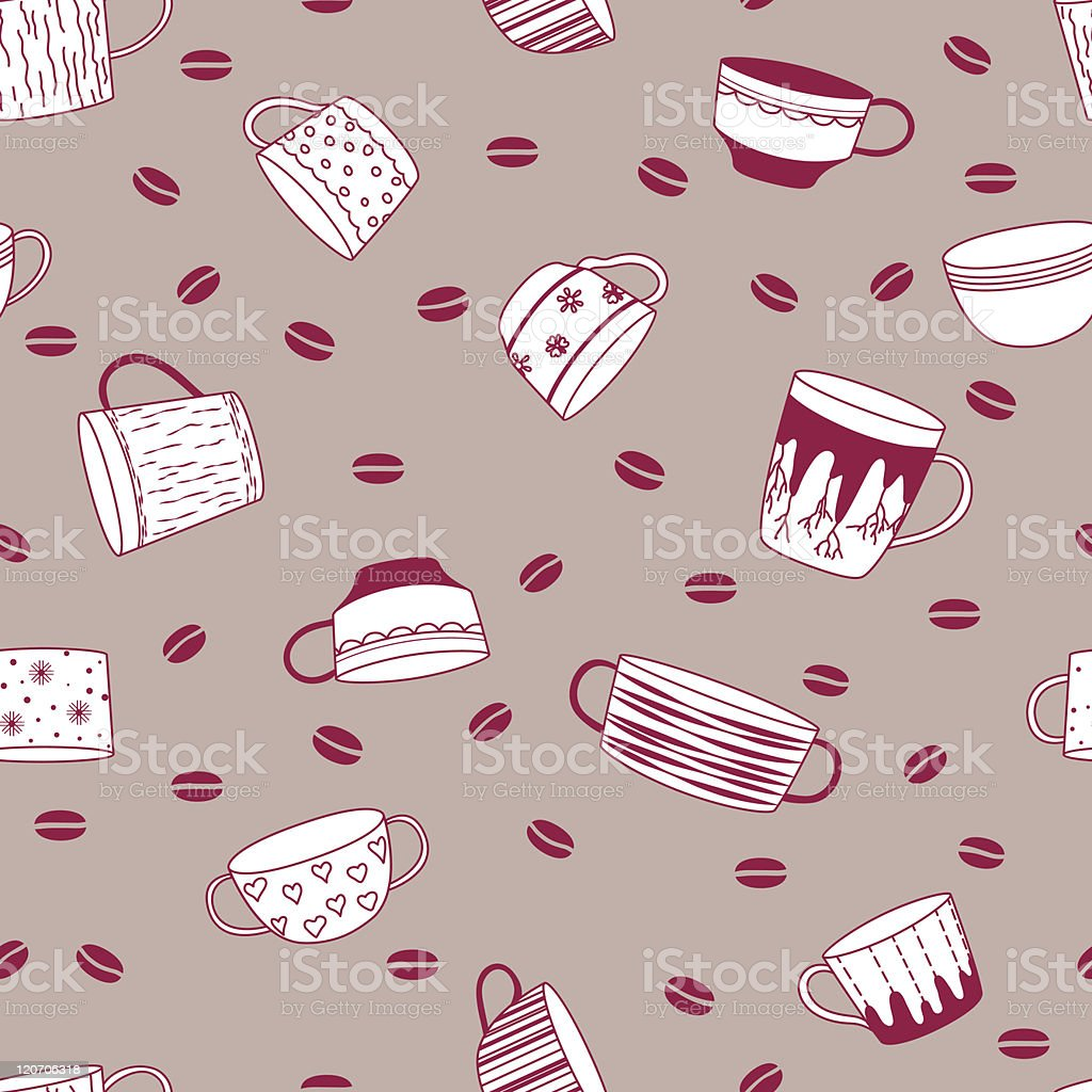 Coffee cup pattern royalty-free stock vector art