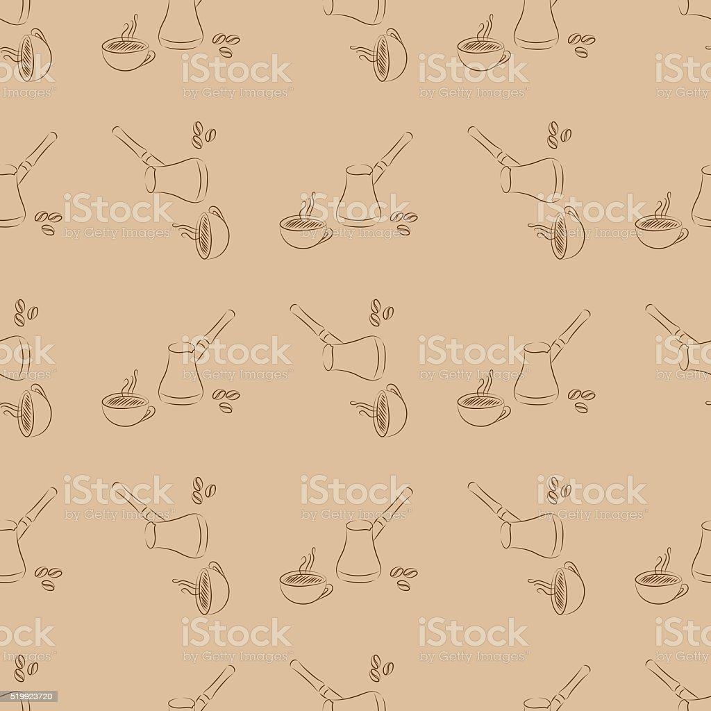coffee cup seamless vector art illustration