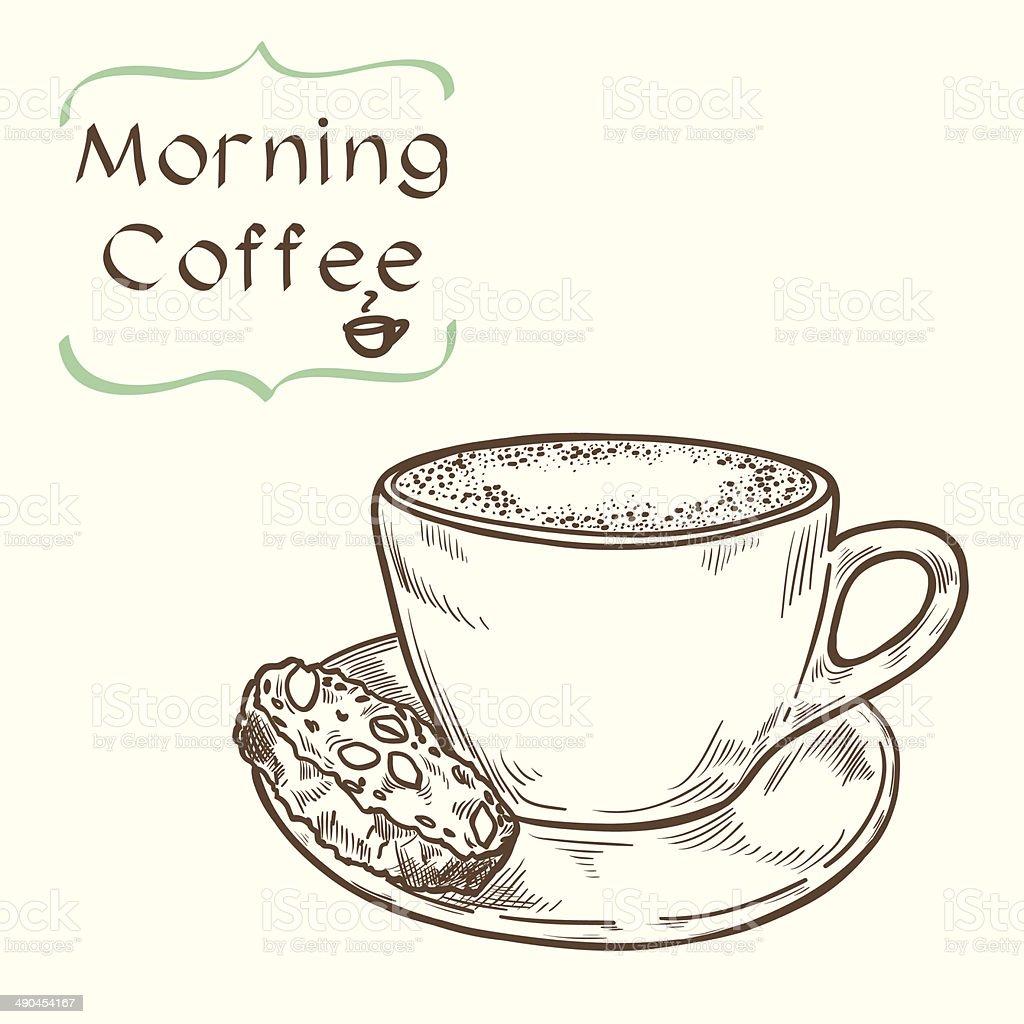 Coffee cup sketch royalty-free stock vector art