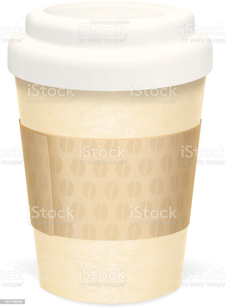 Coffee cup sleeve royalty-free stock vector art