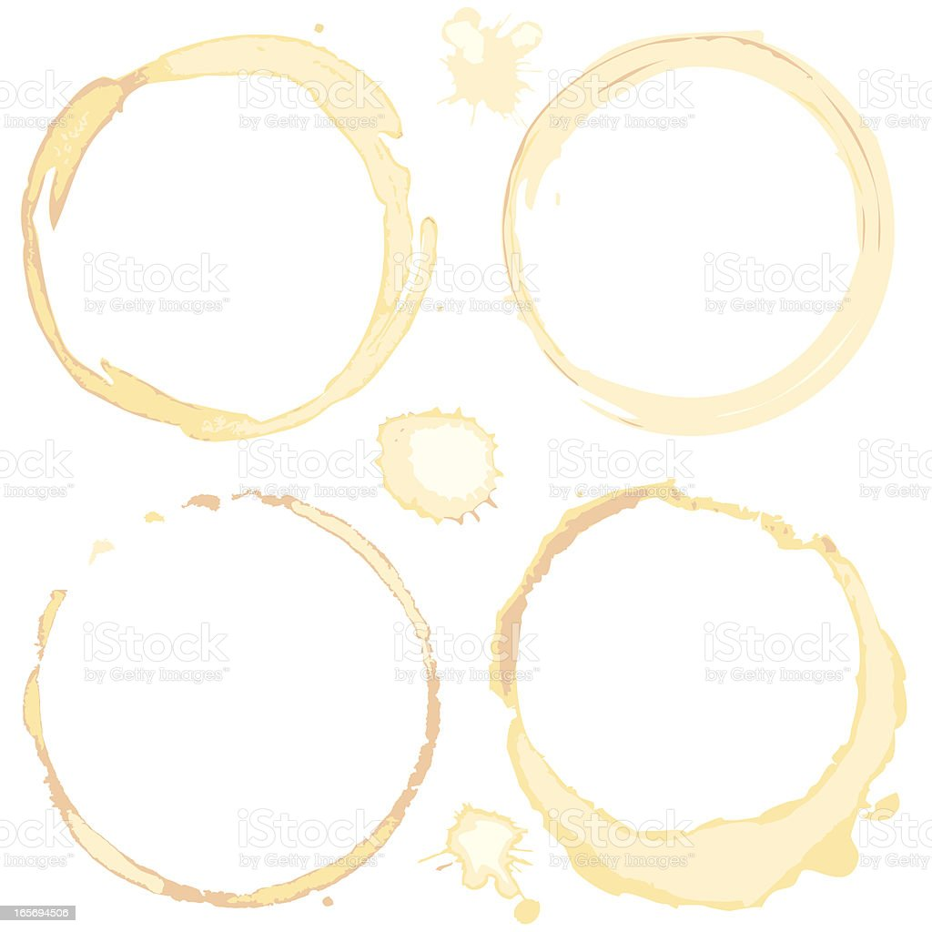 Coffee Cup Stains vector art illustration
