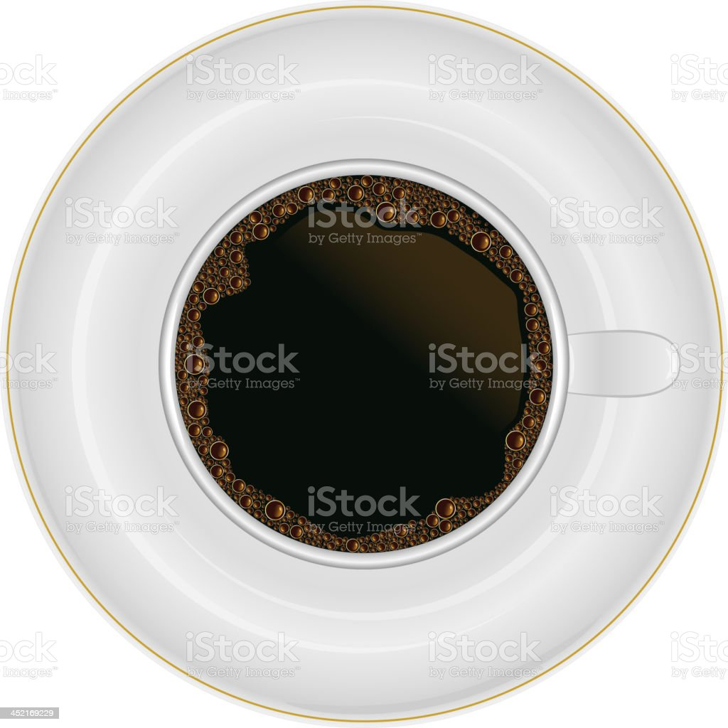 Coffee cup top view royalty-free stock vector art