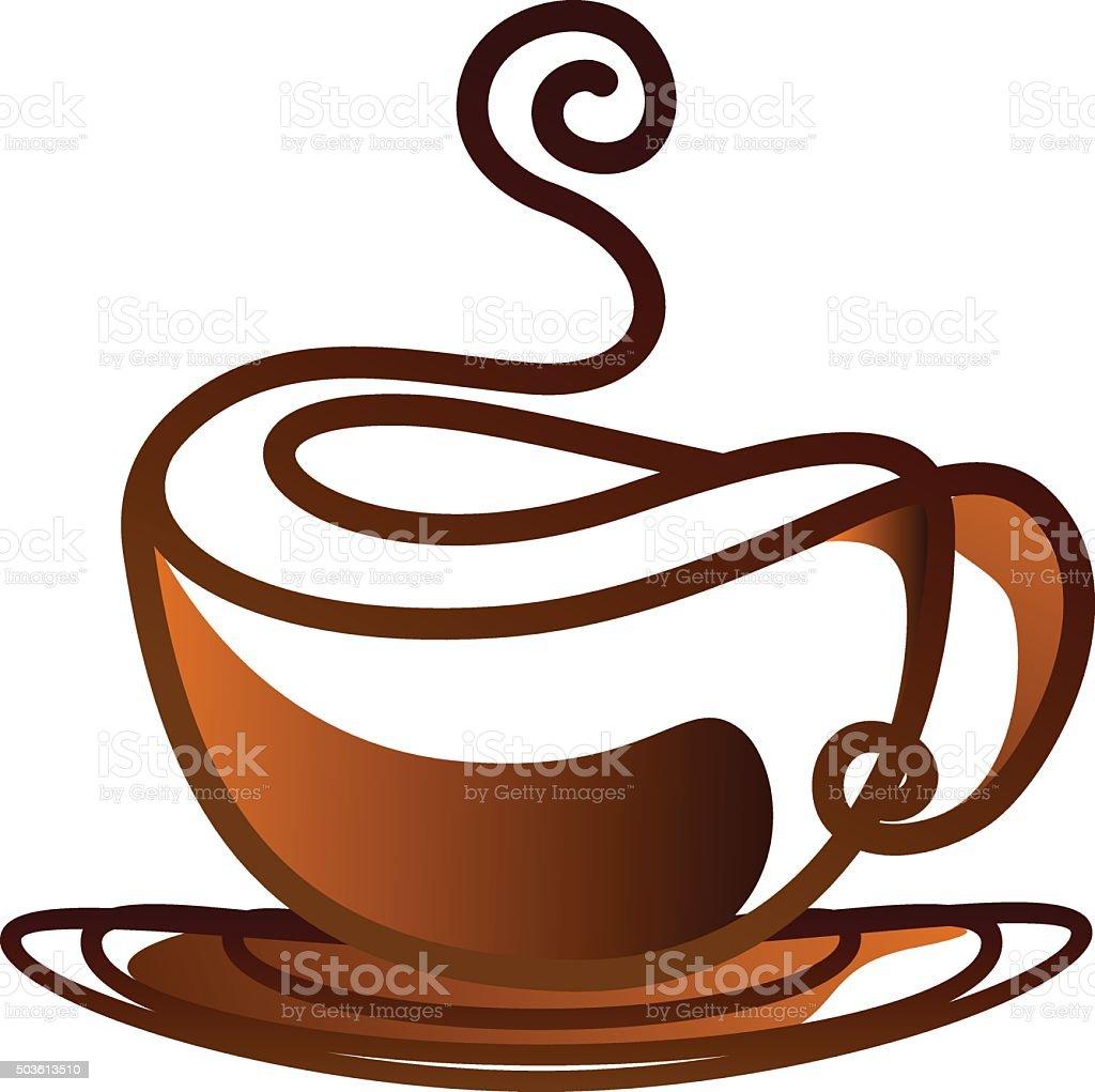 coffee cup vector design line art vector art illustration