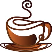 coffee cup vector design line art