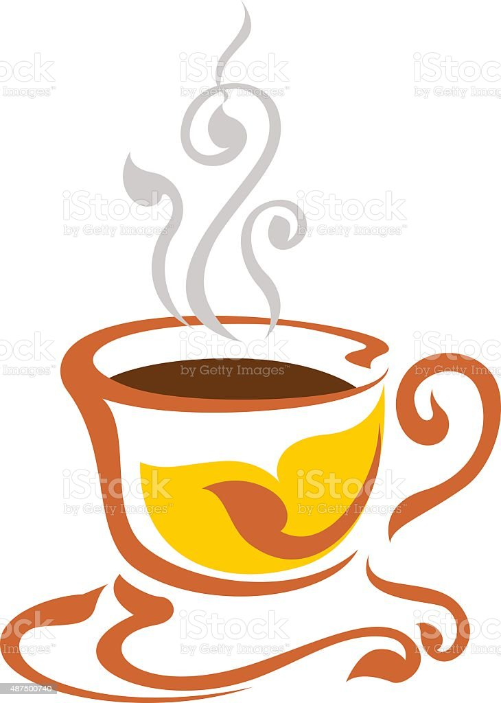 coffee cup vector design line vector art illustration