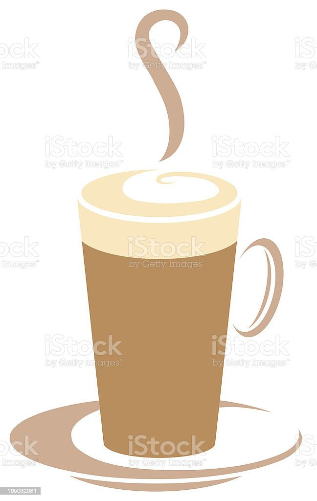 Coffee cup vector graphic logo royalty-free stock vector art