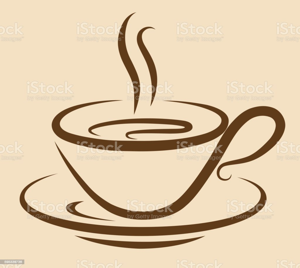 coffee cup vector art illustration