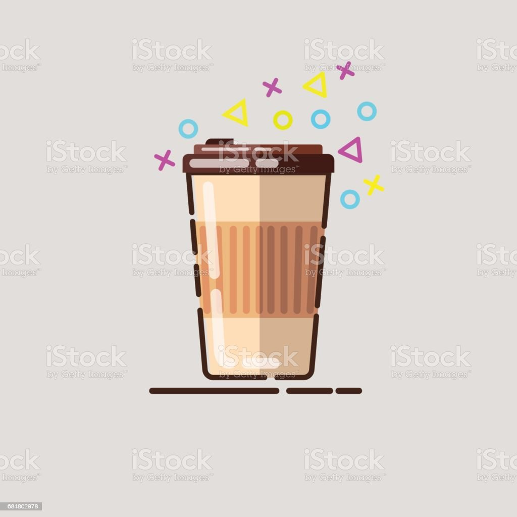 Coffee cup vector illustration. vector art illustration