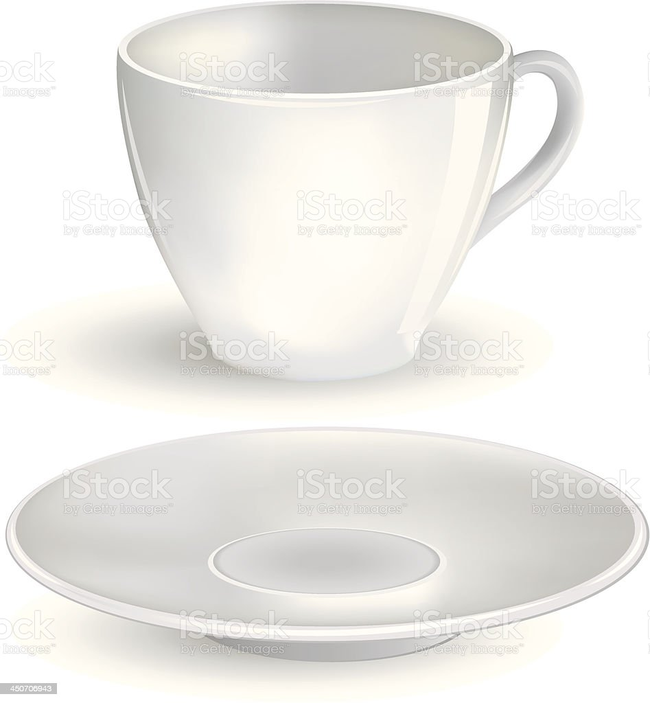 coffee cup with Saucer royalty-free stock vector art