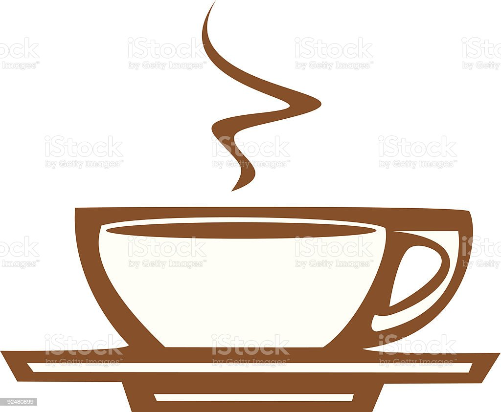 Coffee Cup with Steam royalty-free stock vector art