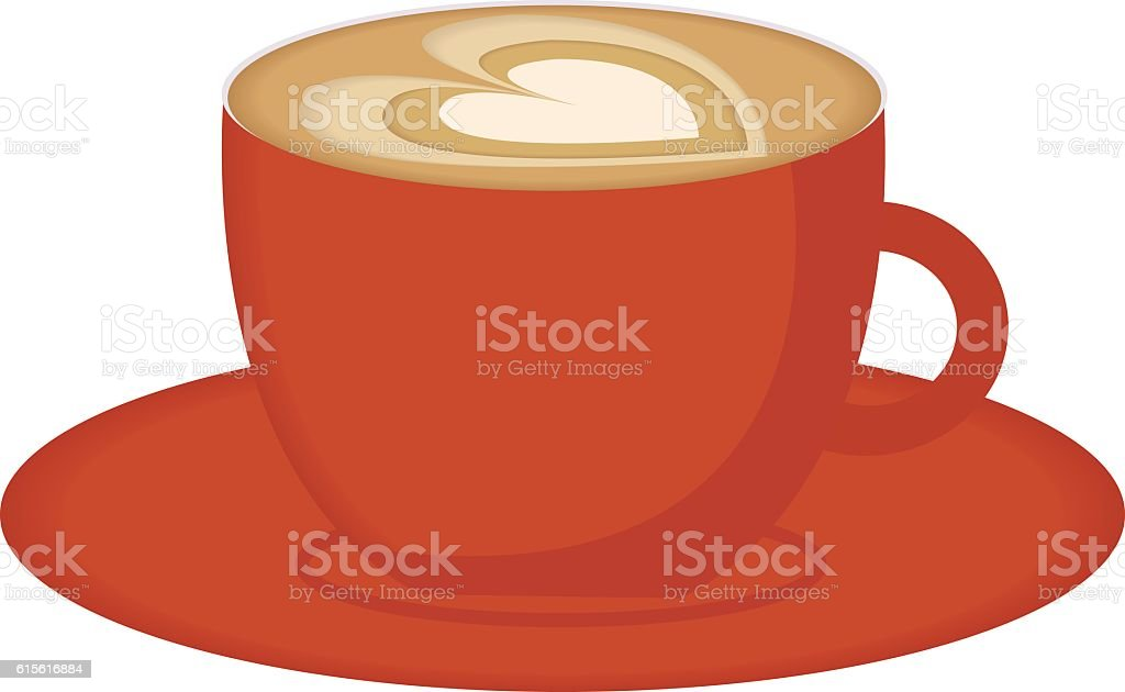 Coffee cup with steam vector illustration. vector art illustration