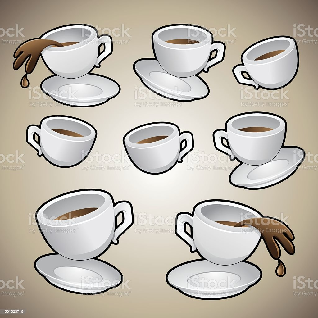 Coffee Cups Set vector art illustration