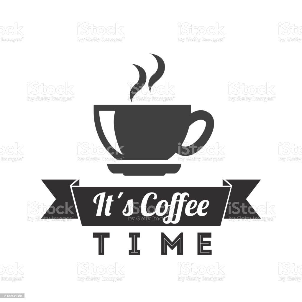 coffee design vector art illustration