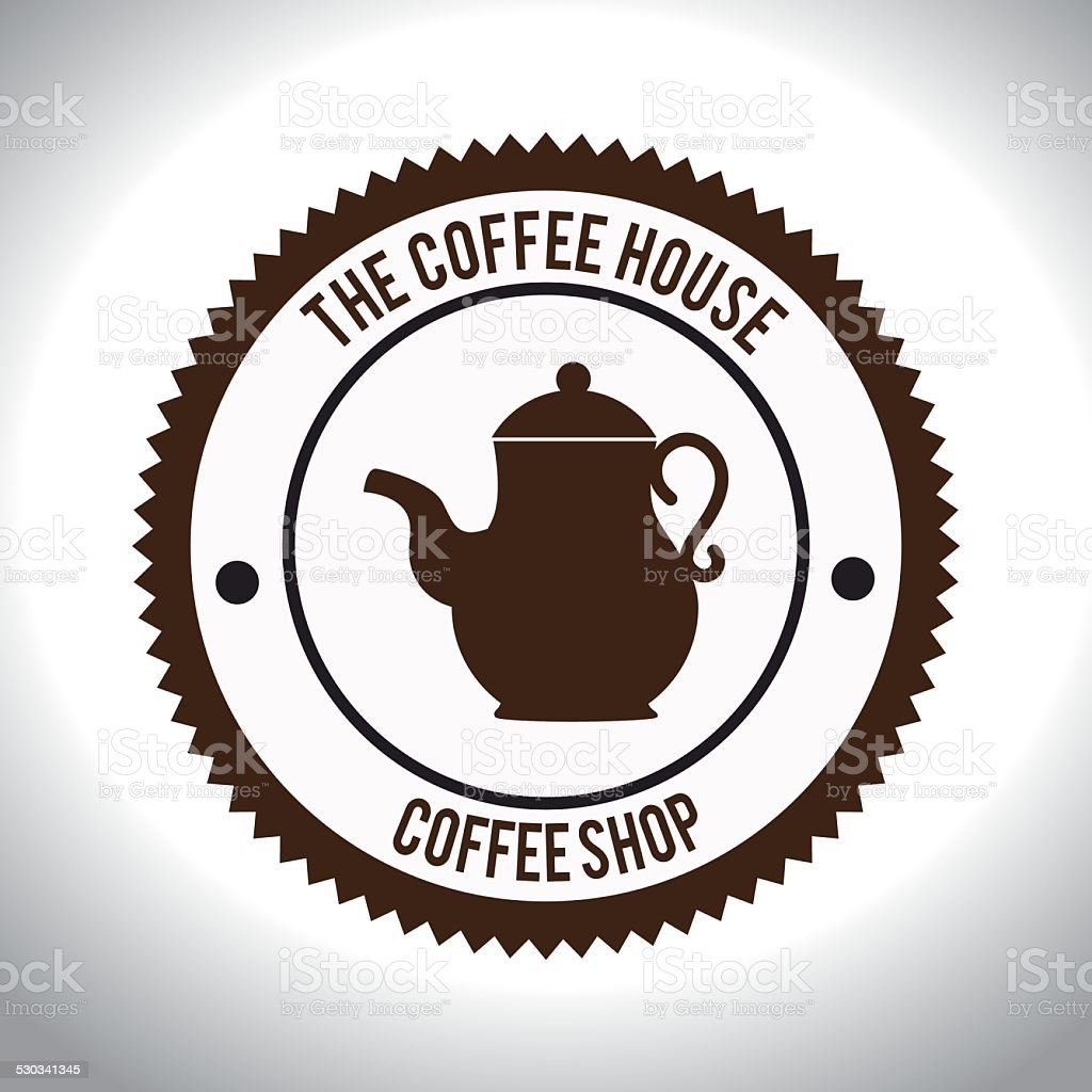 Coffee design, vector illustration. vector art illustration