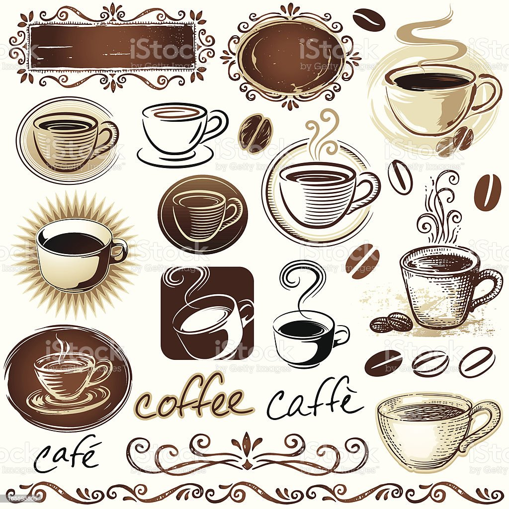 Coffee Elements royalty-free stock vector art