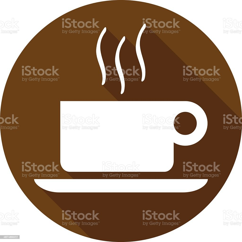 coffee flat icon 2 vector art illustration