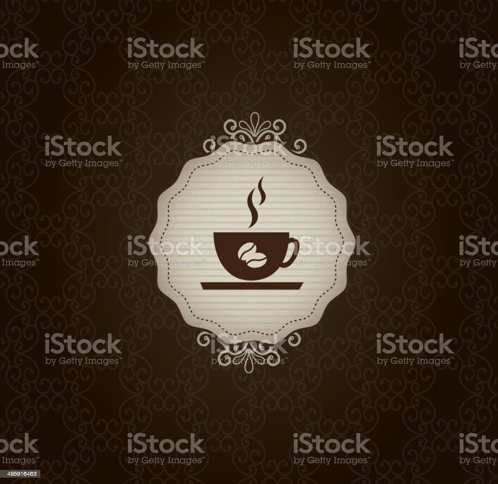 coffee frame royalty-free stock vector art