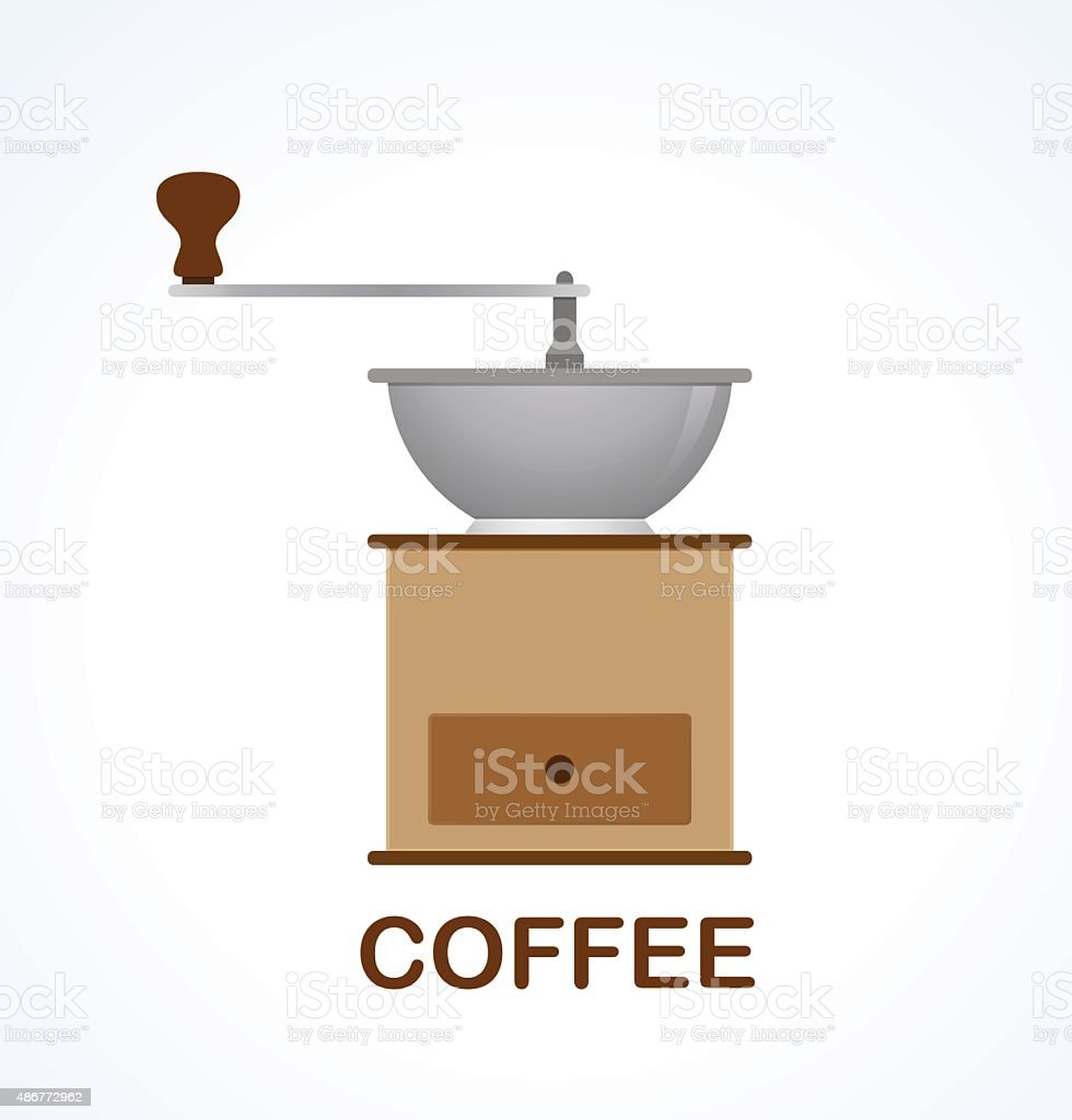 Coffee grinder. Vector element for menu restaurant, bar, cafe. vector art illustration
