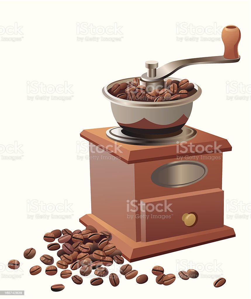 Coffee grinder vector art illustration