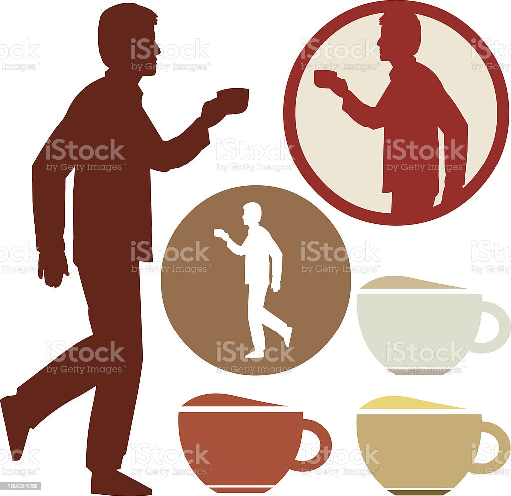 Coffee Guy royalty-free stock vector art