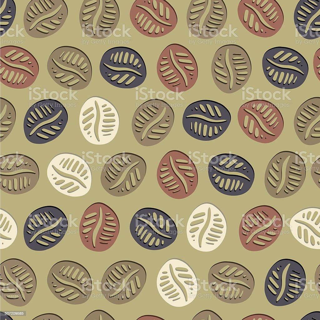 Coffee Hand Drawn Pattern royalty-free stock vector art