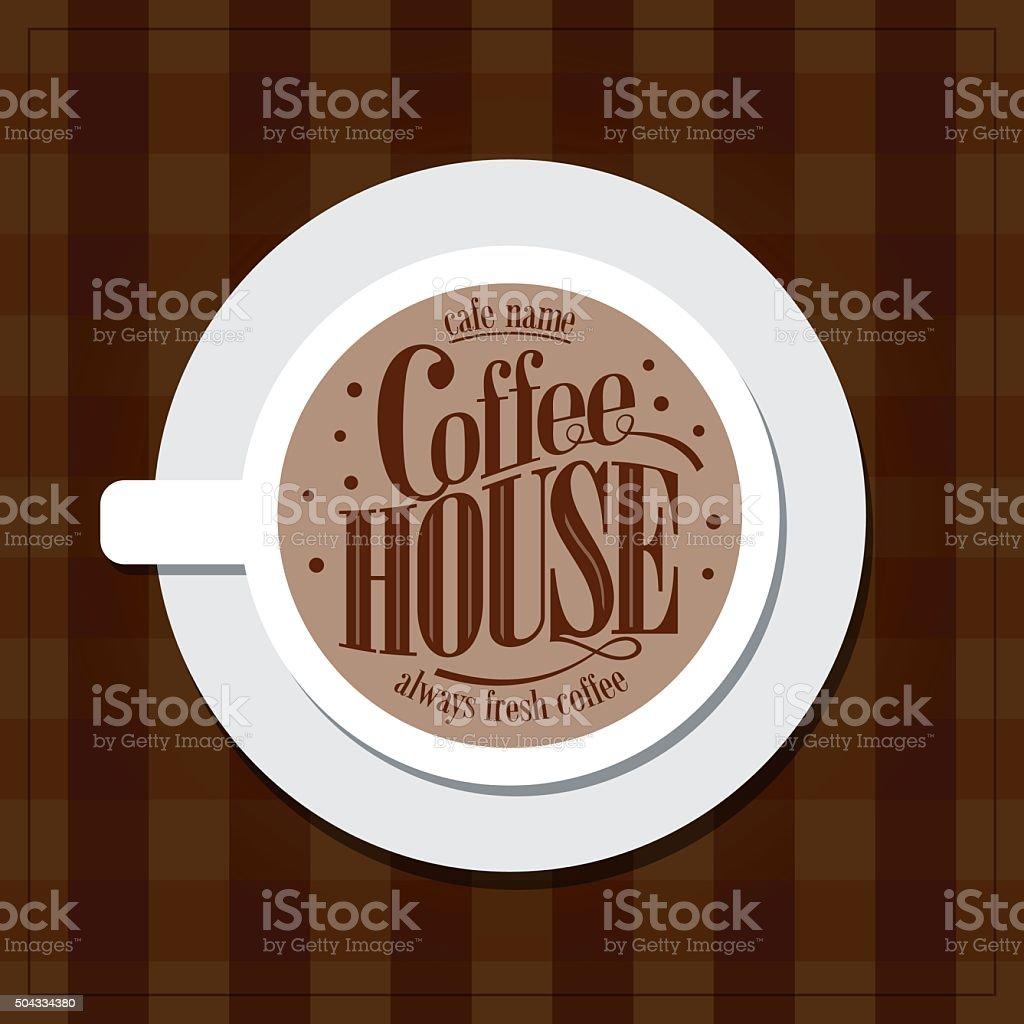 Coffee house Menu Vintage card vector art illustration