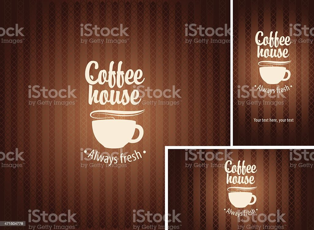 Coffee house vector art illustration