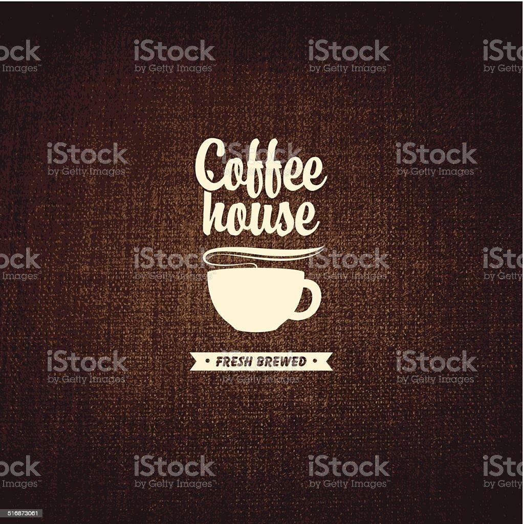 Coffee house vector art illustration