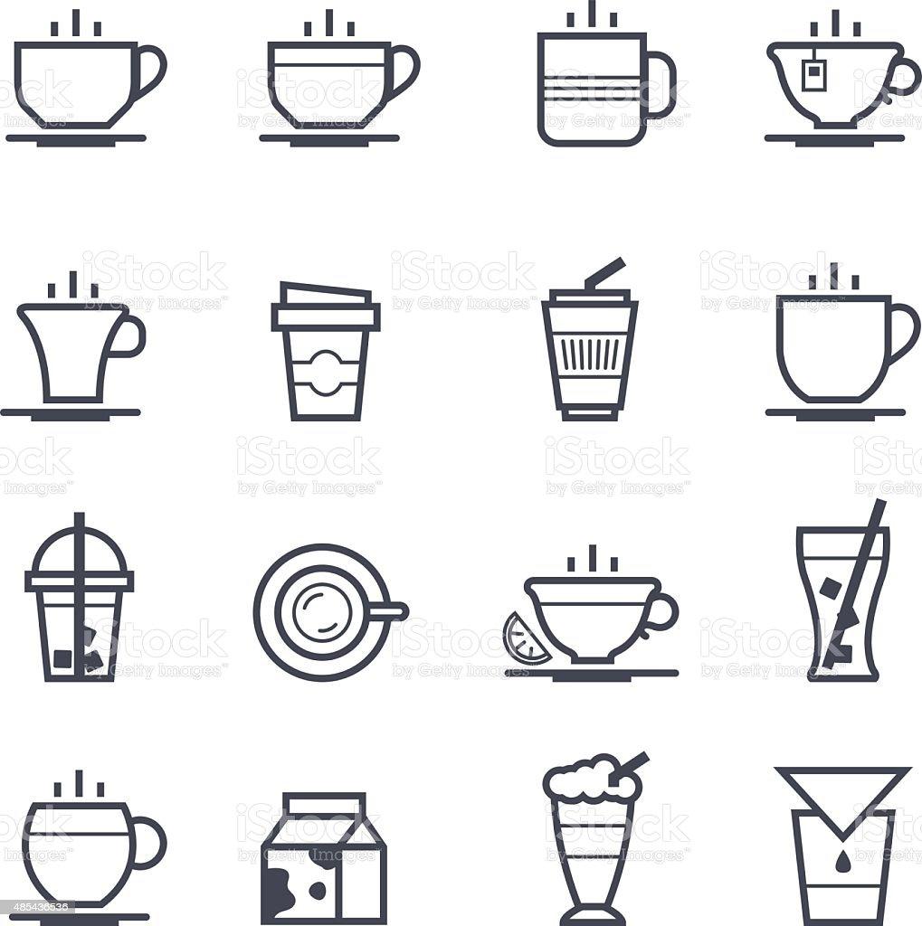 Coffee Icon Bold Stroke vector art illustration