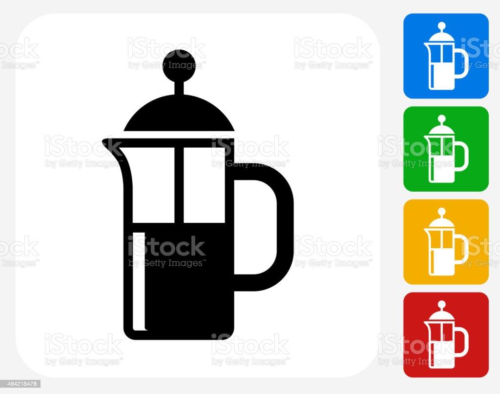 Coffee Icon Flat Graphic Design vector art illustration