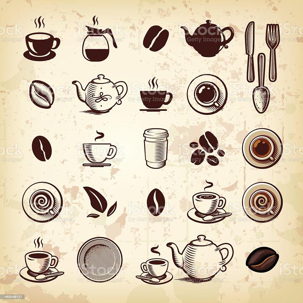 Coffee Icon Set royalty-free stock vector art
