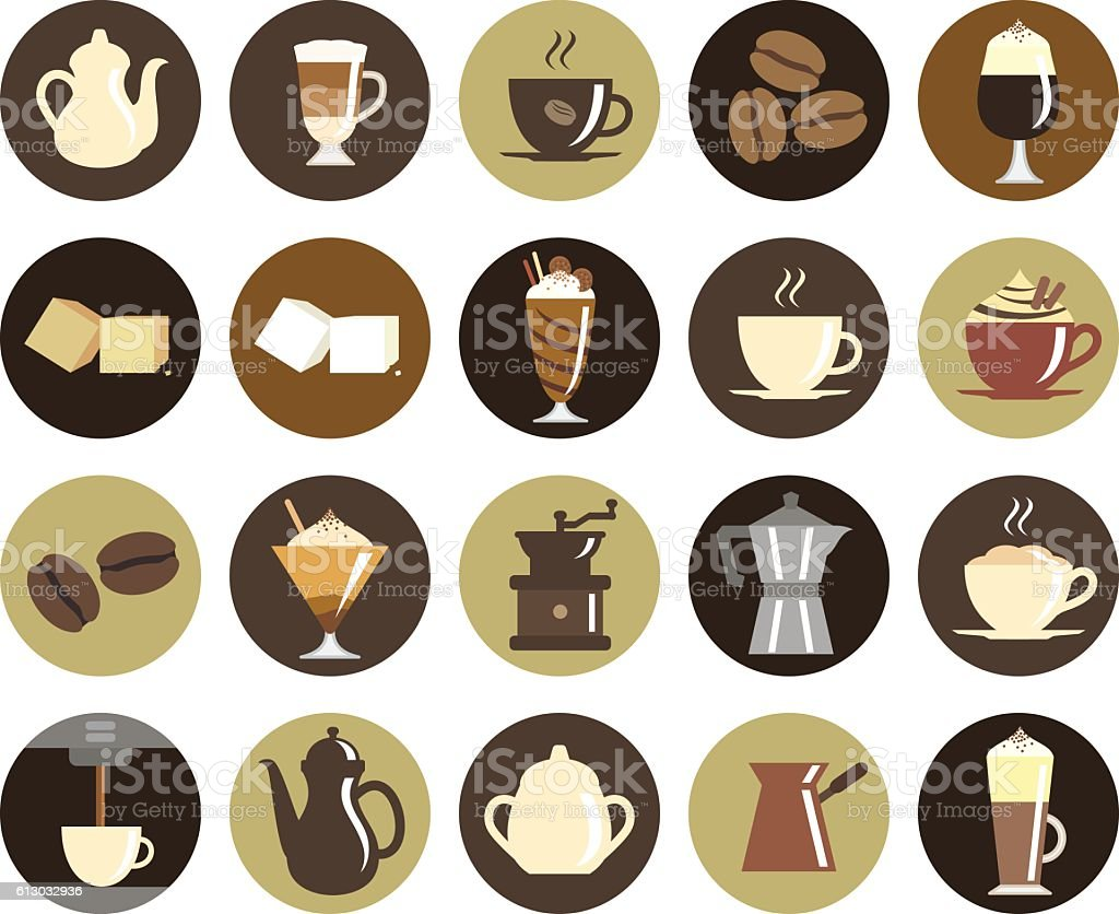 Coffee icon set vector art illustration