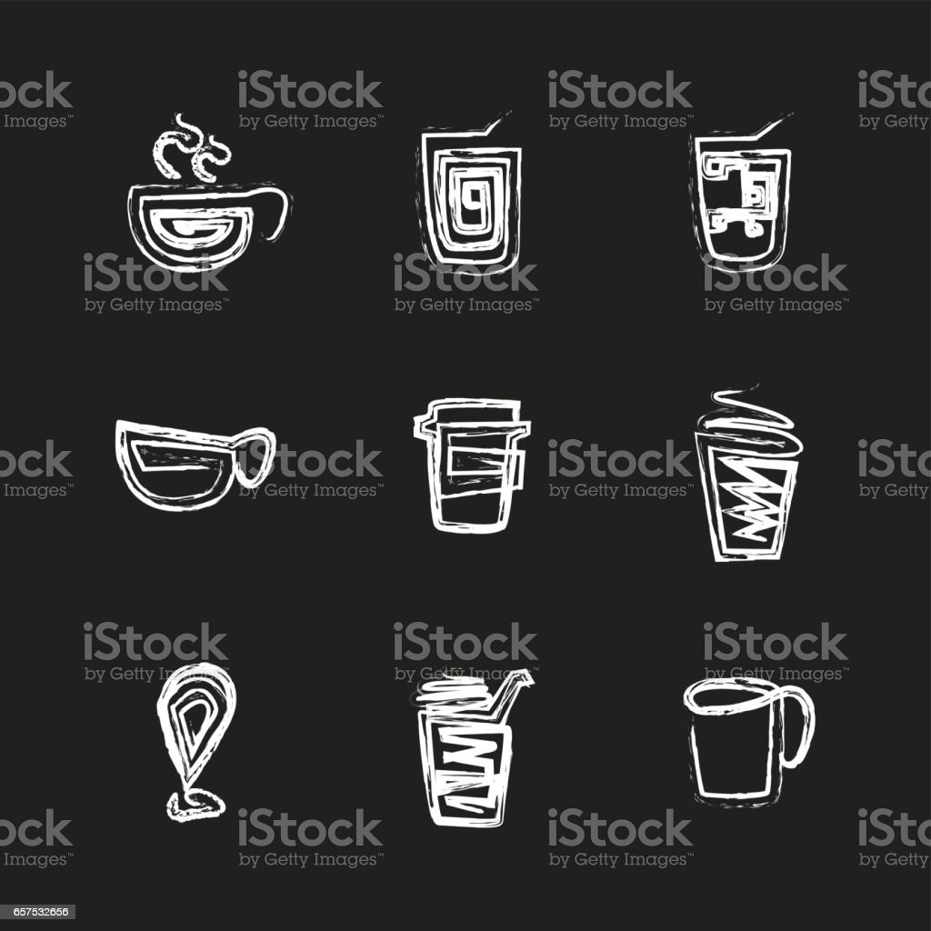 coffee icon set vector art illustration