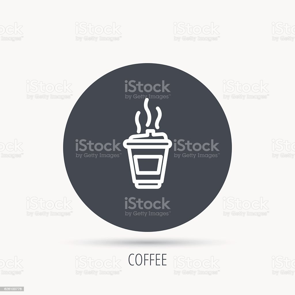 Coffee icon. Takeaway glass sign. vector art illustration