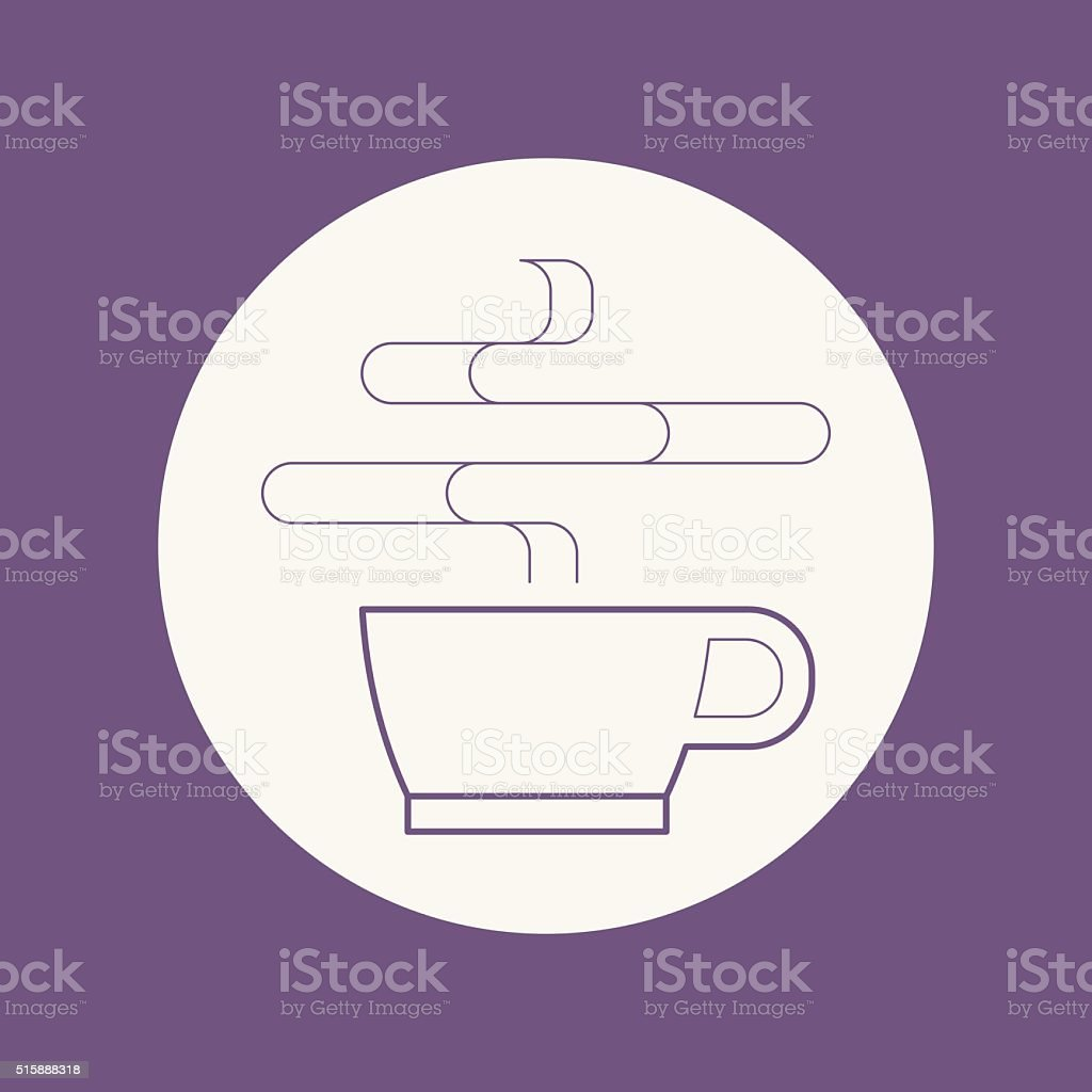 Coffee icon vector art illustration