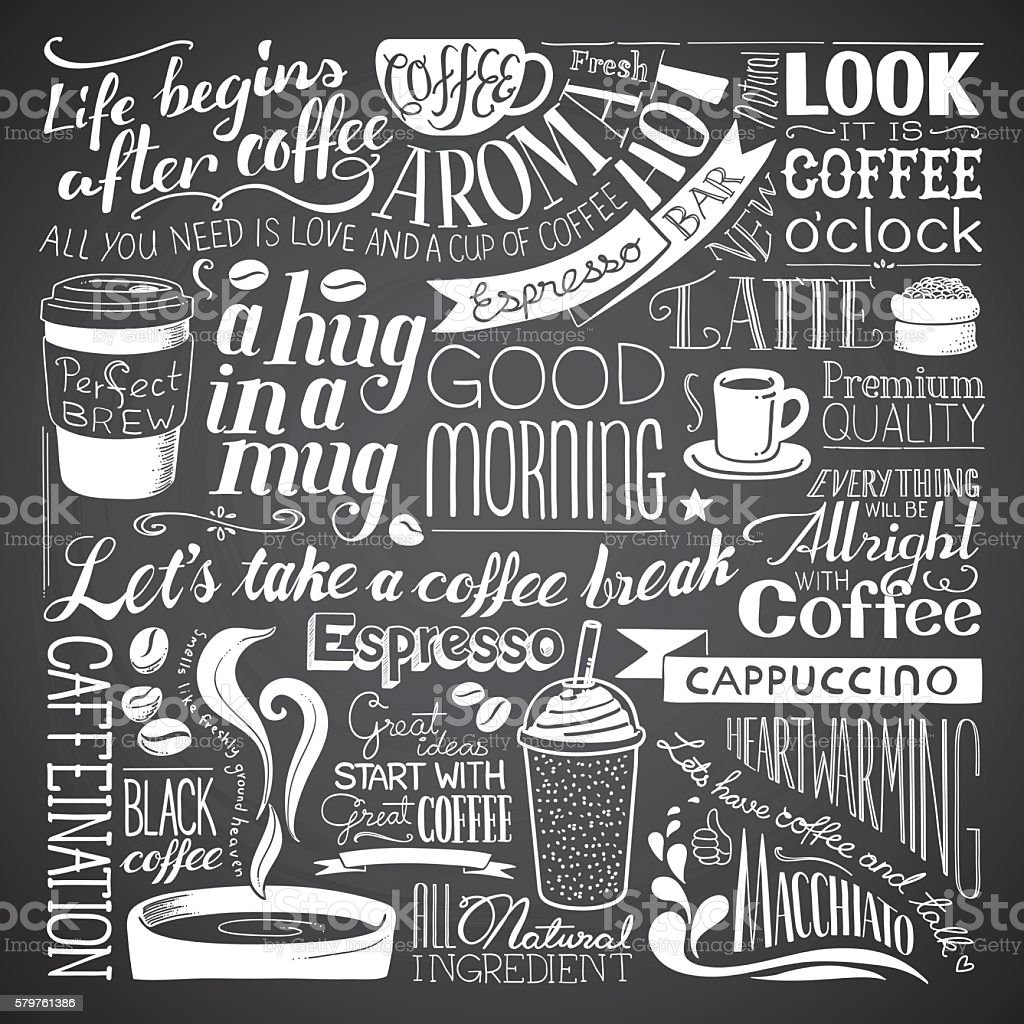 coffee icon wallpaper vector art illustration