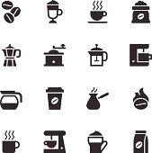 Coffee Icons - Black