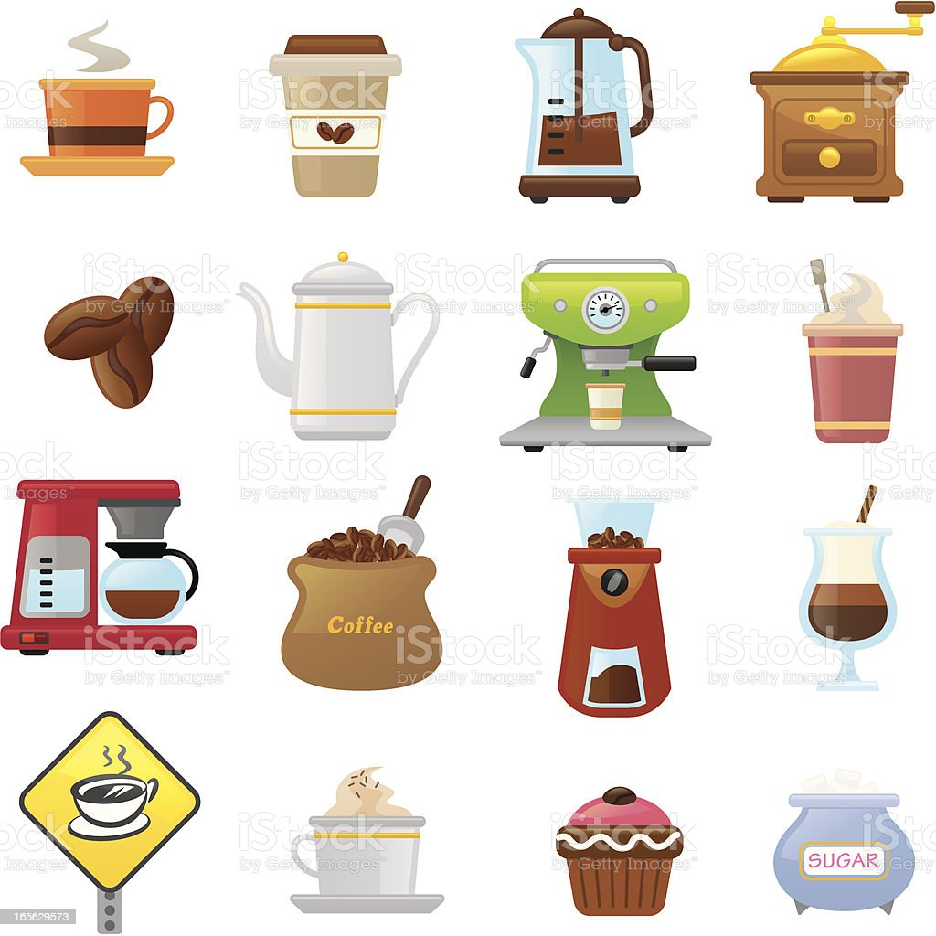 Coffee  icons | smoso series royalty-free stock vector art