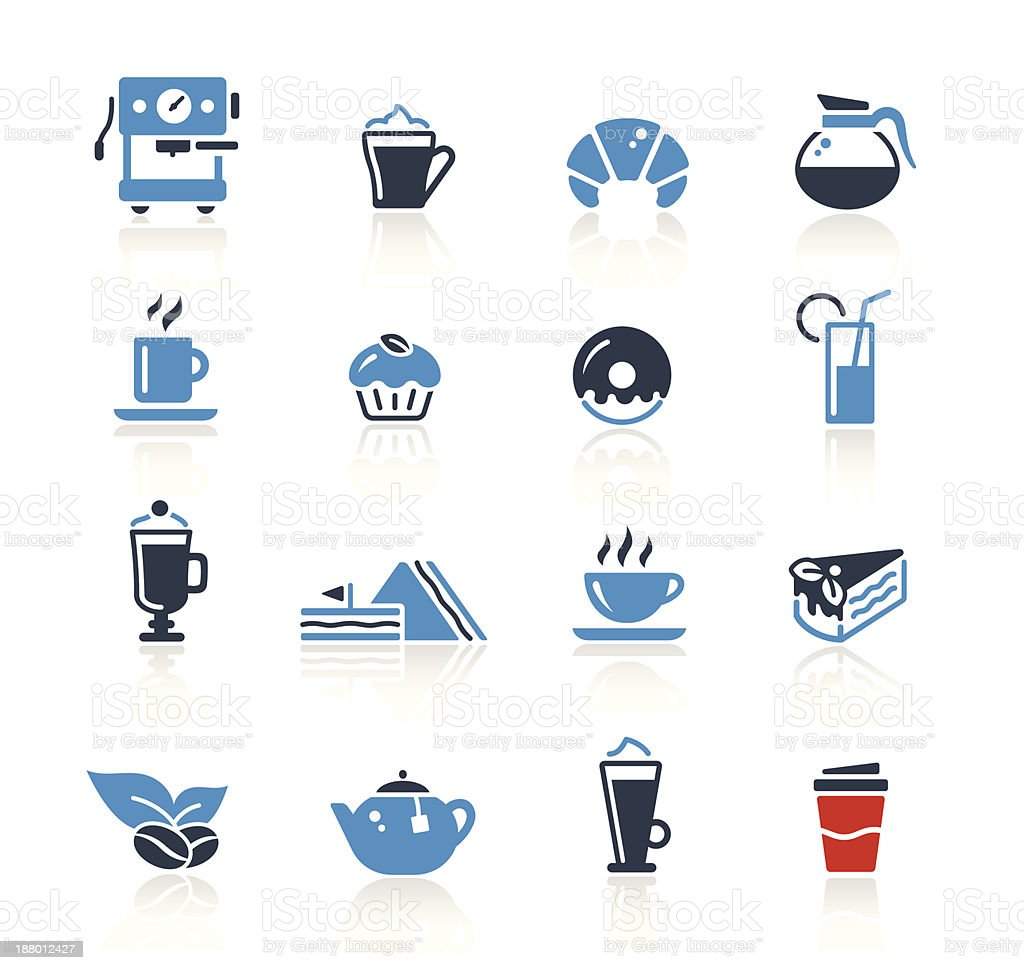 Coffee Icons Two Colors | Pro Series vector art illustration
