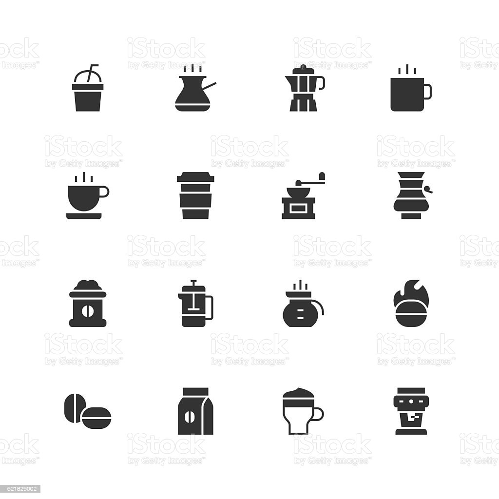Coffee Icons - Unique vector art illustration